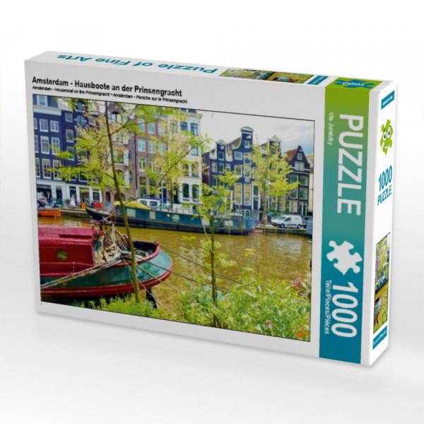 Puzzle Amsterdam - Hausboote an der Prinsengracht