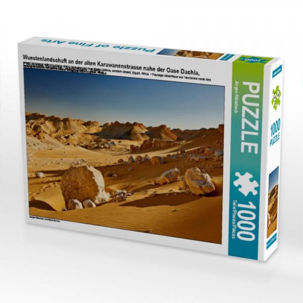 Puzzle Wuestenlandschaft an der alten Karawanenstrasse nahe der Oase Dachla Libysche Wueste Aegypten Afrika