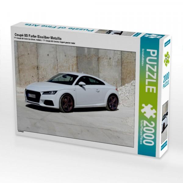 Sportwagen Puzzle Coupé 8S Farbe Eissilber Metallic 2000 Teile Puzzle quer Motiv 1 Bild 1