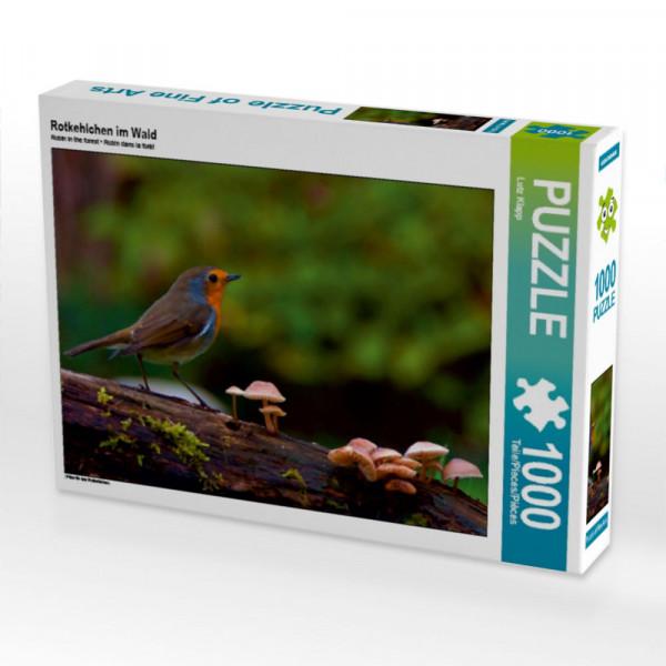 Puzzle Rotkehlchen im Wald