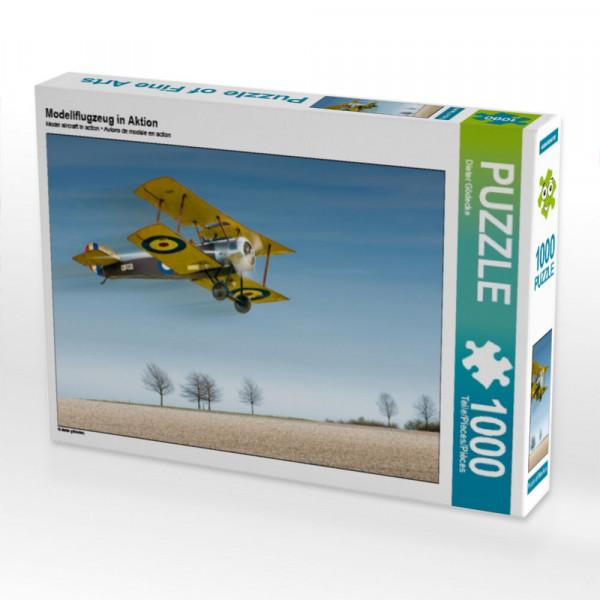 Puzzle Modellflugzeug in Aktion