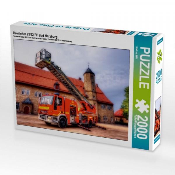 Puzzle Drehleiter 23/12 FF Bad Harzburg 2000 Teile Puzzle quer Motiv 1 Bild 1