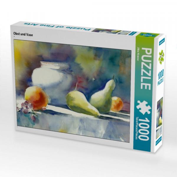 Puzzle Obst und Vase