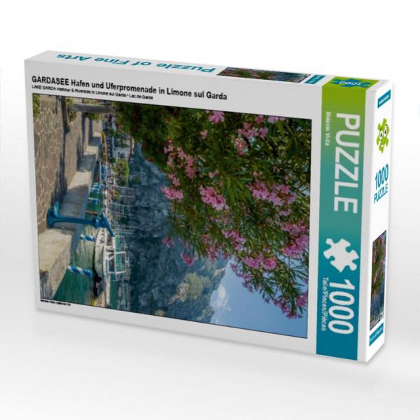 Puzzle GARDASEE Hafen und Uferpromenade in Limone sul Garda