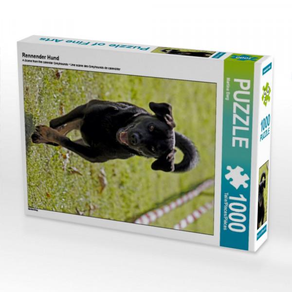 Puzzle Rennender Hund