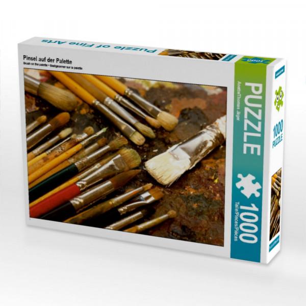 Puzzle Pinsel auf der Palette