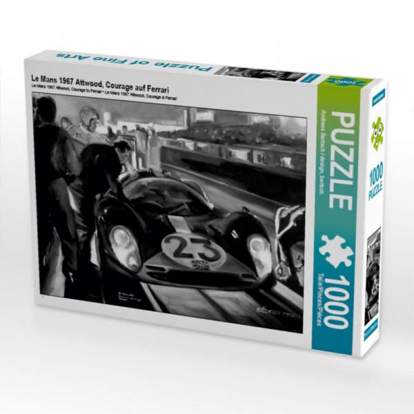 Puzzle Le Mans 1967 Attwood Courage auf Ferrari