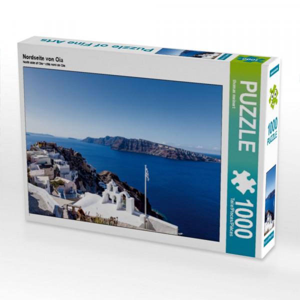 Puzzle Nordseite von Oia auf Santorin