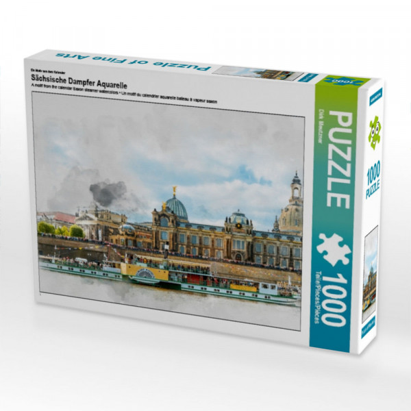 Puzzle Sächsische Dampfer Aquarelle