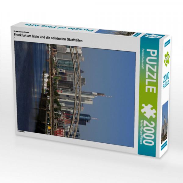 Puzzle Frankfurt am Main und die schönsten Stadtteilen Foto-Puzzle Bild von Bodenstaff Petrus