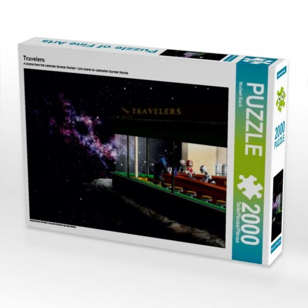 Surreale Welten Puzzle Travelers 2000 Teile Puzzle quer Motiv 1 Bild 1
