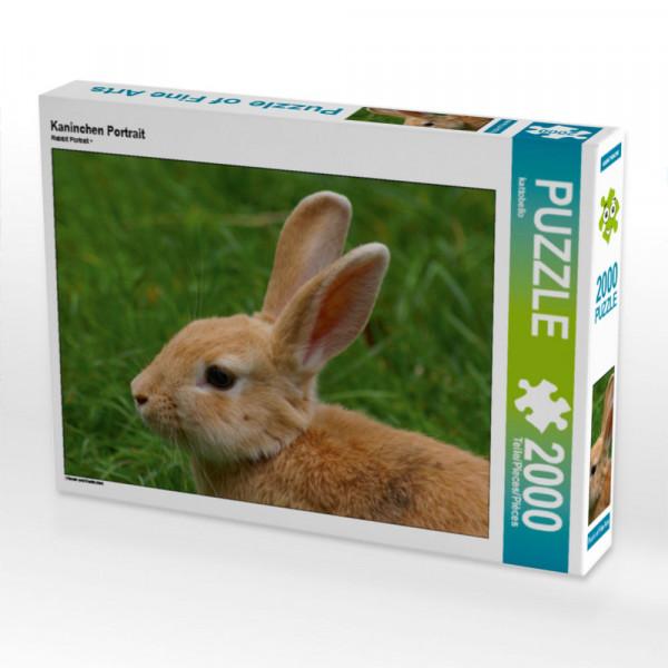 Puzzle Kaninchen Portrait Foto-Puzzle Bild von