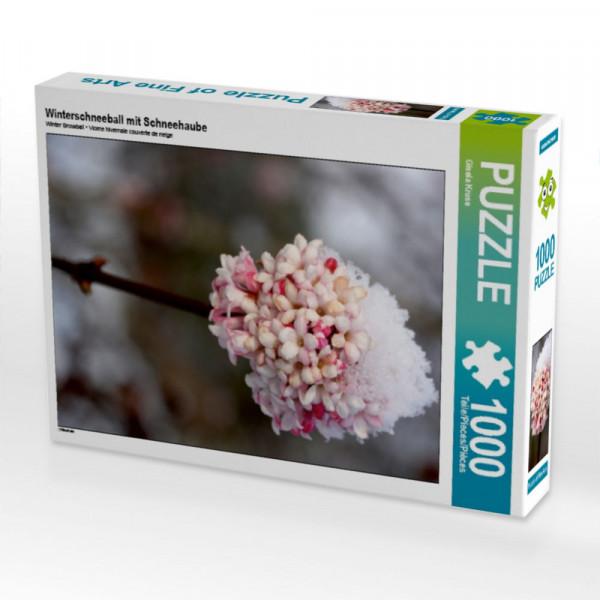 Puzzle Winterschneeball mit Schneehaube
