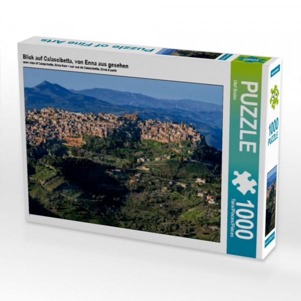Puzzle Blick auf Calascibetta von Enna aus gesehen