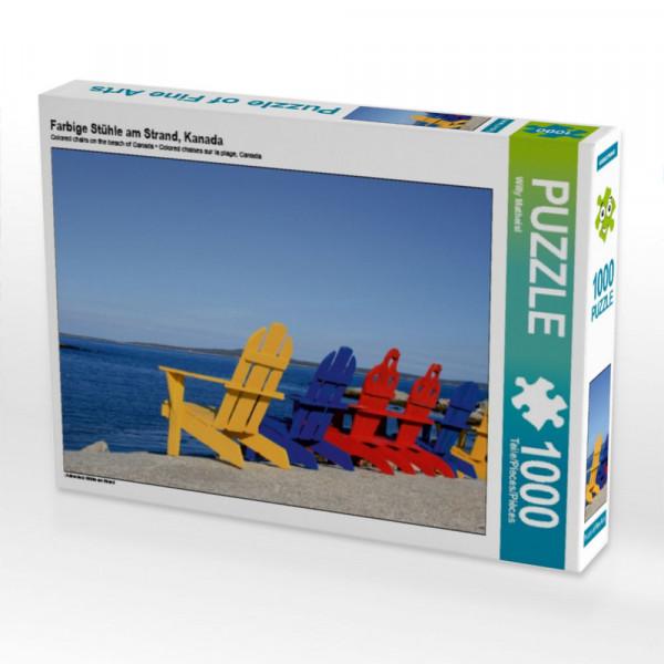 Puzzle Farbige Stühle am Strand Kanada