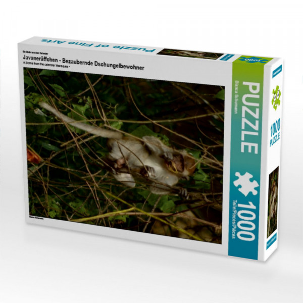 Puzzle Javaneräffchen - Bezaubernde Dschungelbewohner
