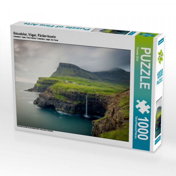 Puzzle Gásadalur Vágar Färöer-Inseln