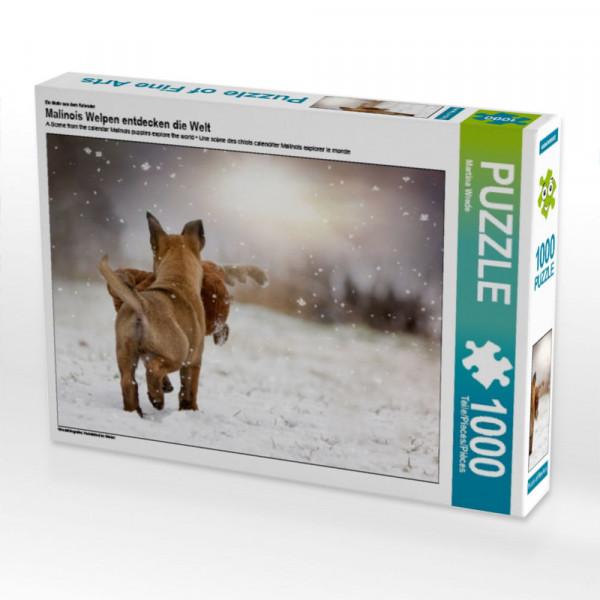 Puzzle Hundekind im Winter