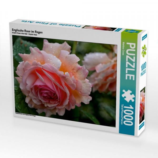 Puzzle Englische Rose im Regen