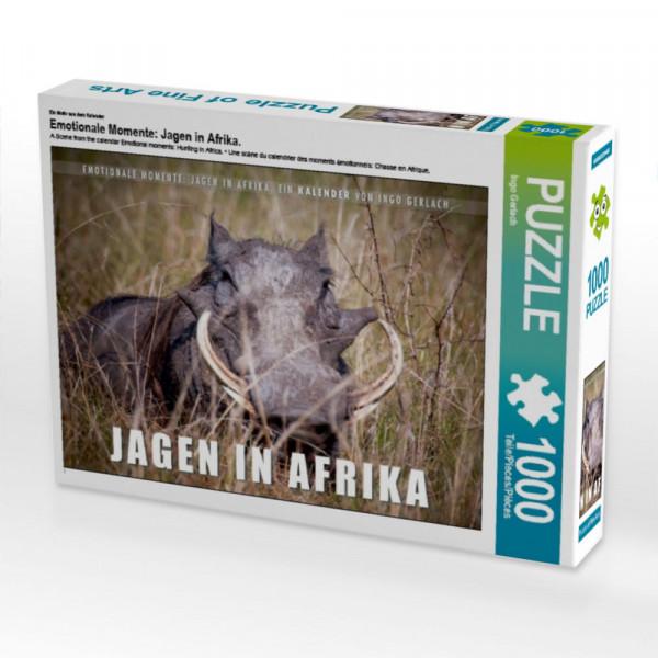 Puzzle Emotionale Momente: Jagen in Afrika.