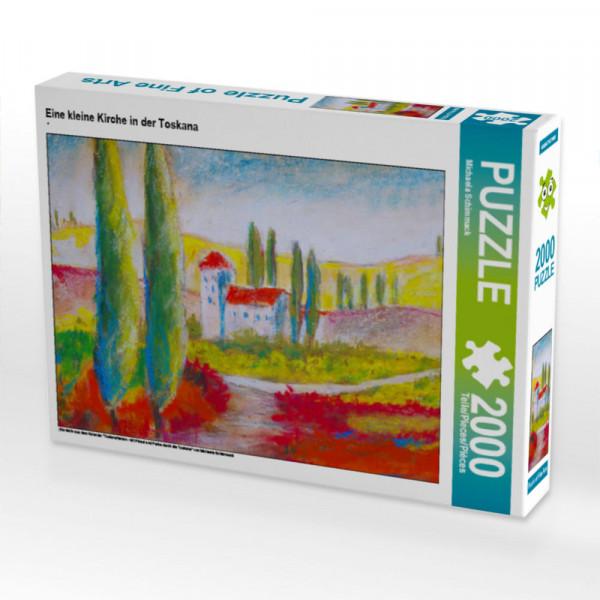 Puzzle Eine kleine Kirche in der Toskana Foto-Puzzle Bild von Schimmack Michaela