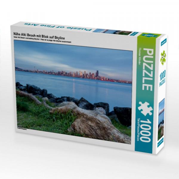 Puzzle Nähe Alki Beach mit Blick auf Skyline