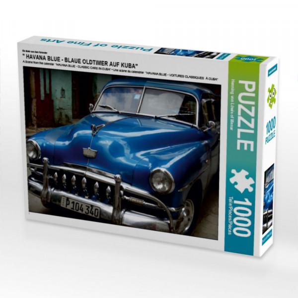 Puzzle HAVANA BLUE - BLAUE OLDTIMER AUF KUBA