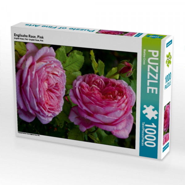 Puzzle Englische Rose Pink