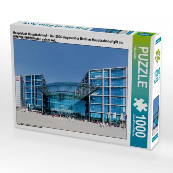 Puzzle Hauptstadt Hauptbahnhof – Der 2006 eingeweihte Berliner Hauptbahnhof gilt als einer der modernsten seiner Art.