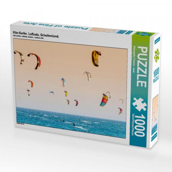 Puzzle Kite-Surfer. Lefkada Griechenland.