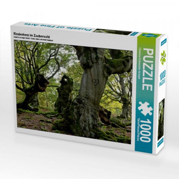 Puzzle Rindenherz im Zauberwald