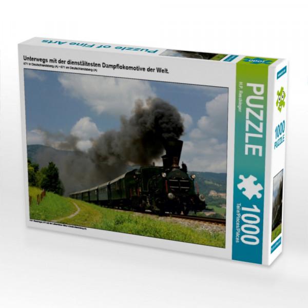 Puzzle Unterwegs mit der dienstältesten Dampflokomotive der Welt.