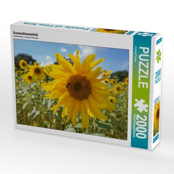Puzzle Sonnenblumenfeld 2000 Teile Foto-Puzzle   Motiv 1 Bild 1