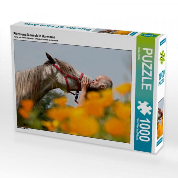 Puzzle Pferd und Mensch in Harmonie