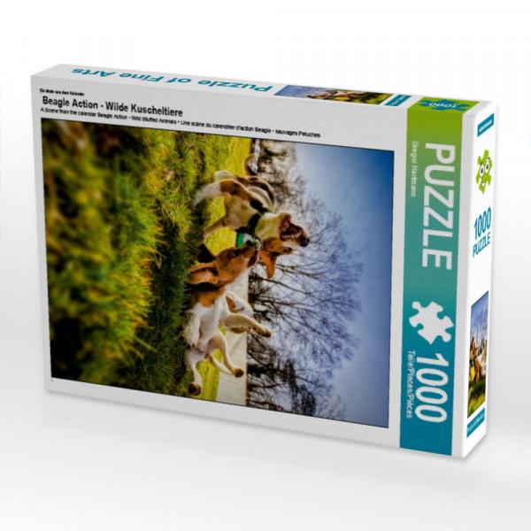 Puzzle Beagle Action - Wilde Kuscheltiere