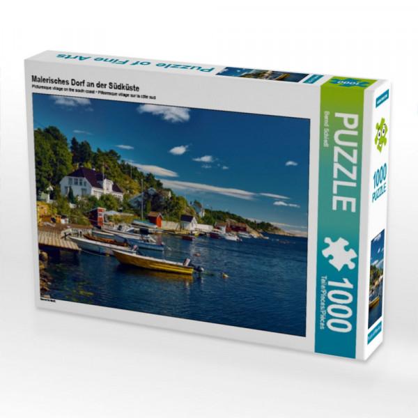 Puzzle Malerisches Dorf an der Südküste