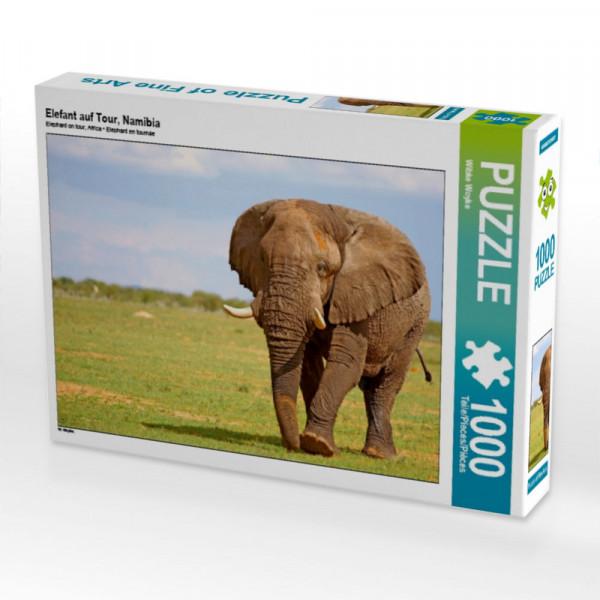 Puzzle Elefant auf Tour Namibia