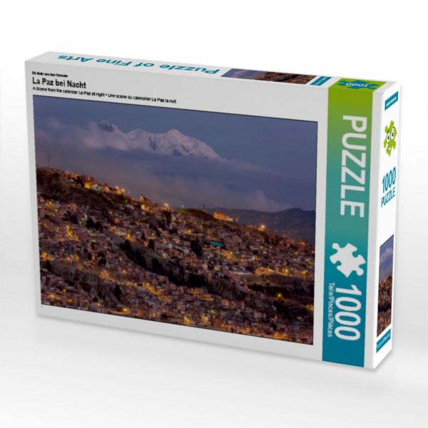 Puzzle La Paz bei Nacht