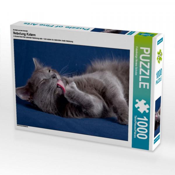 Puzzle Nebelung Katzen