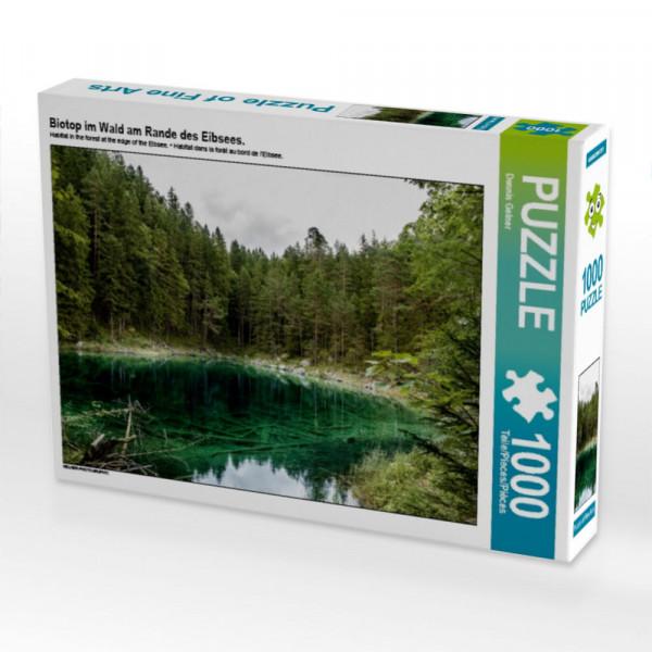 Puzzle Biotop im Wald am Rande des Eibsees.