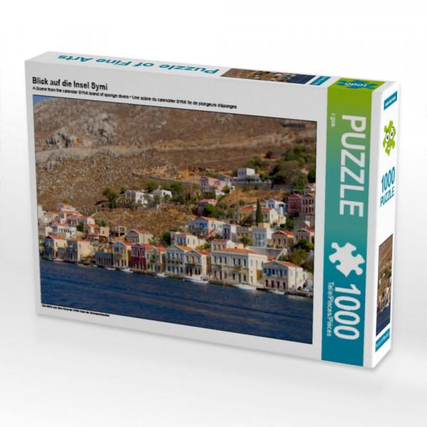 Puzzle Blick auf die Insel Symi