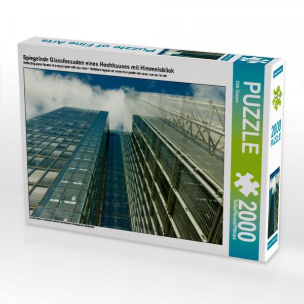 Puzzle Spiegelnde Glassfassaden eines Hochhauses mit Himmelsblick Foto-Puzzle Bild von Grasse Dirk