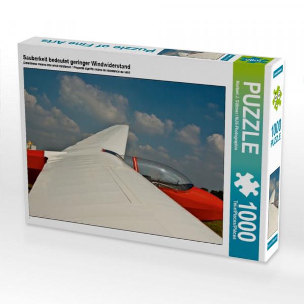 Puzzle Sauberkeit bedeutet geringer Windwiderstand