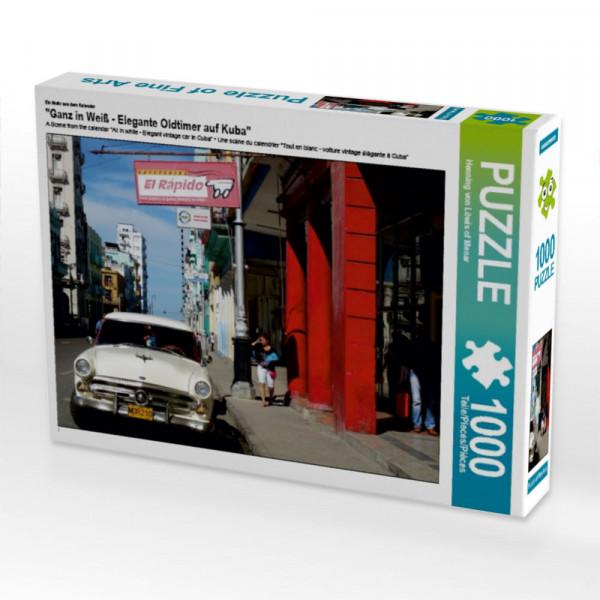 Puzzle Ganz in Weiß - Elegante Oldtimer auf Kuba