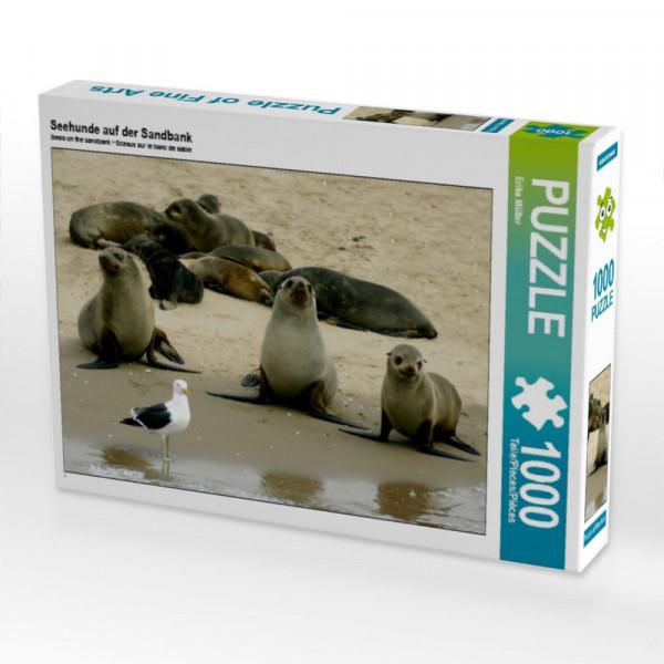 Puzzle Seehunde auf der Sandbank