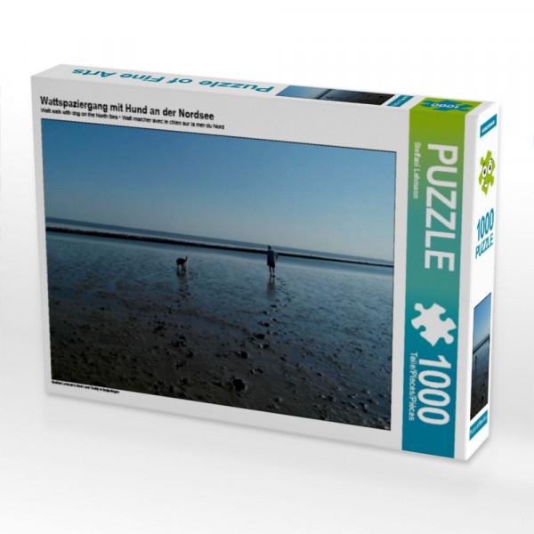 Puzzle Wattspaziergang mit Hund an der Nordsee