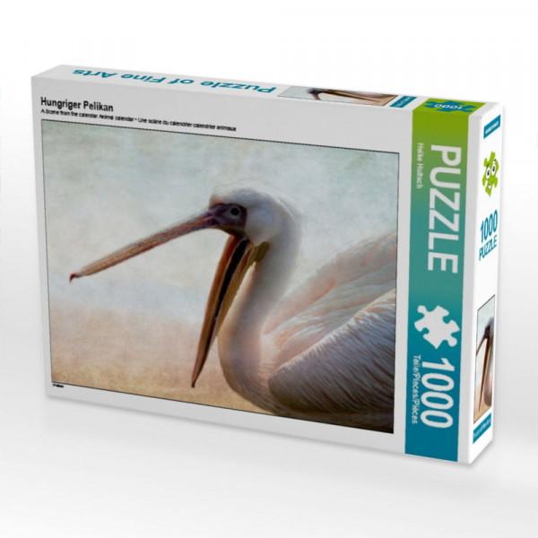 Puzzle Hungriger Pelikan