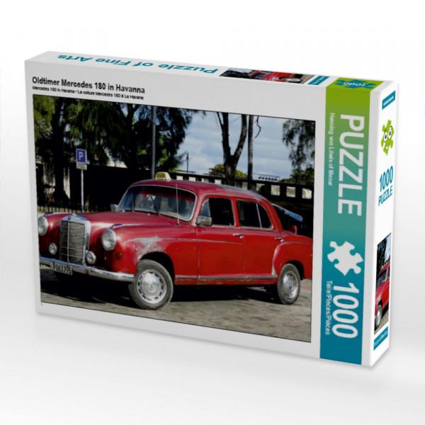Puzzle Oldtimer Mercedes 180 in Havanna