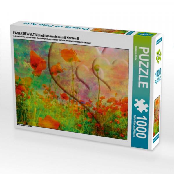 Puzzle FANTASIEWELT Mohnblumenwiese mit Herzen II