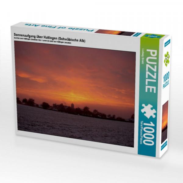 Puzzle Sonnenaufgang über Hattingen Schwäbische Alb